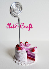 segnaposto in fimo torta ciliegia