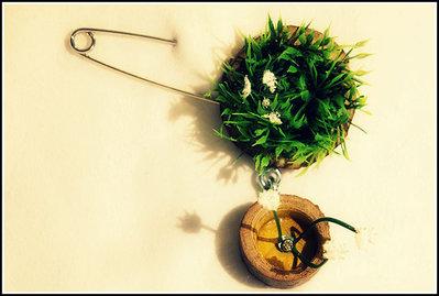 Spilla prato evergreen