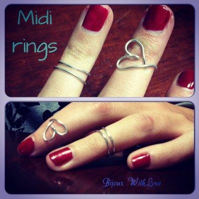 Normal e midi Rings