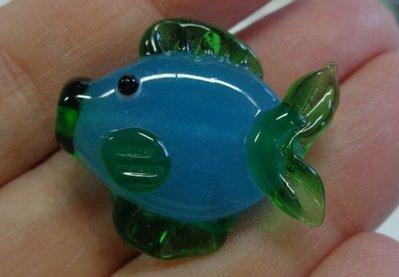 4 Perline in Vetro a forma di Pesce