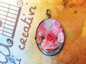 Cammeo Cupcake rosa 4x3cm