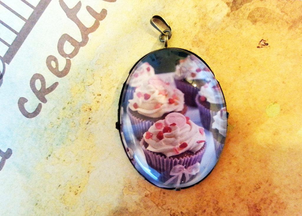Cammeo Cupcake lilla 4x3cm