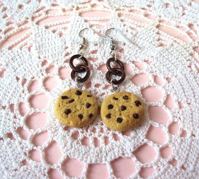orecchini con cookies in fimo