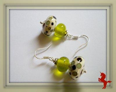 Boucles d'oreilles en perles de verre filé