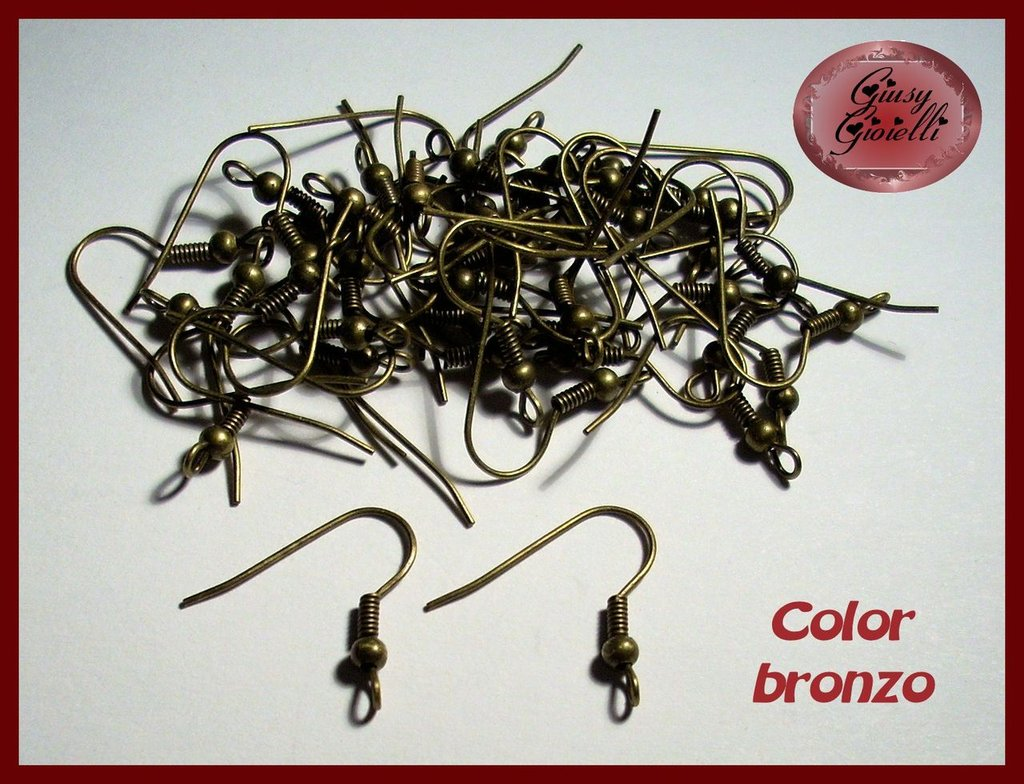 20 pezzi (10 paia) monachelle color bronzo