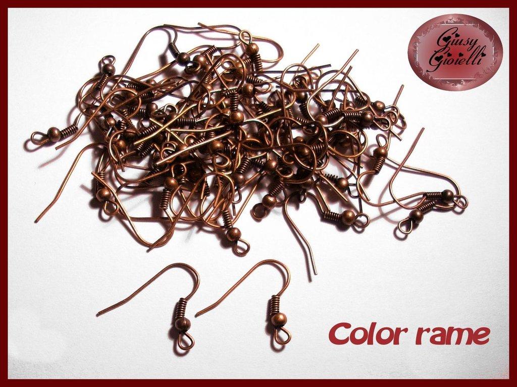 20 pezzi (10 paia) monachelle color rame