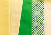 Tessuti di 100% cotone giallo
