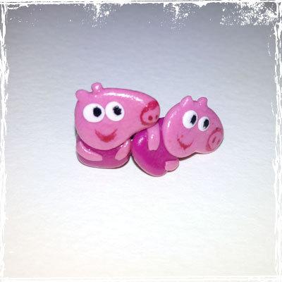Orecchini Maialina rosa in fimo