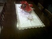 centro tavola lino uncinetto