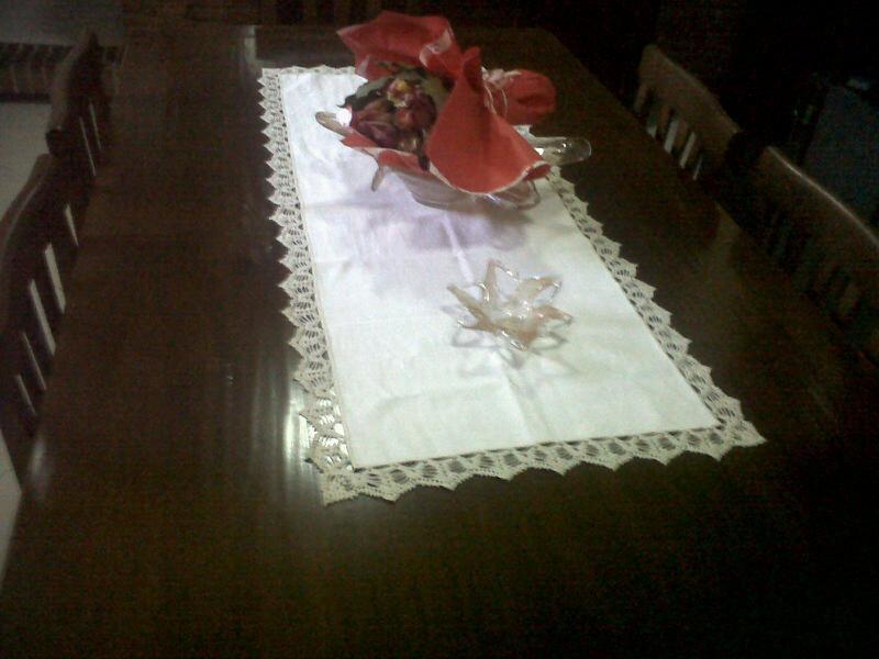 Centro tavola lino uncinetto per la casa e per te - Centro tavolo all uncinetto ...