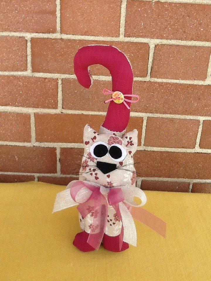 gatto, gattino fermaporta fermalibri in stoffa e pannolenci