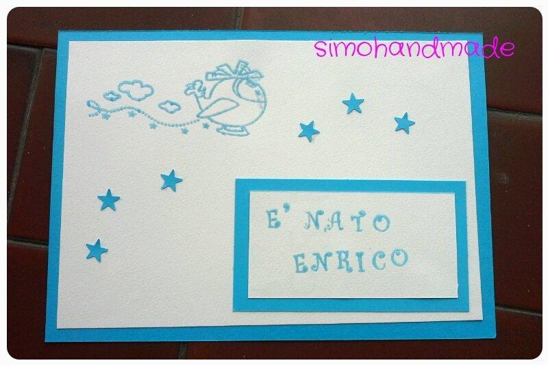 biglietto annuncio di nascita