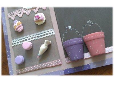 Lavagna magnetica -doppio utilizzo-cake design