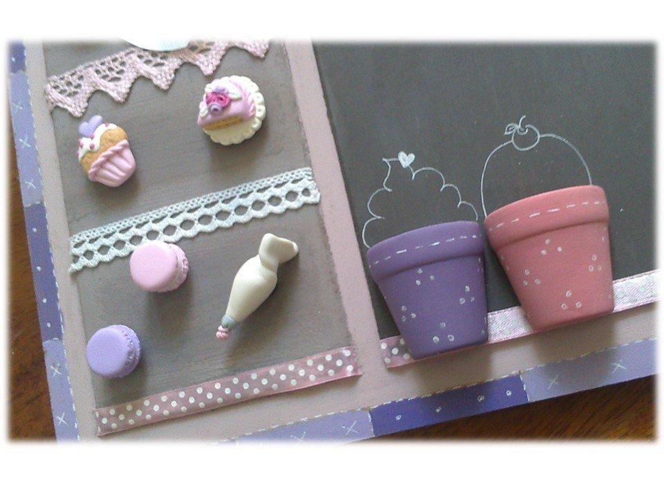 lavagna magnetica -doppio utilizzo-cake design - per la casa e per ... - Lavagne Per Cucina