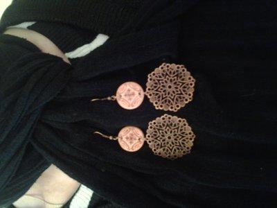 orecchini in filigrana e ceramica