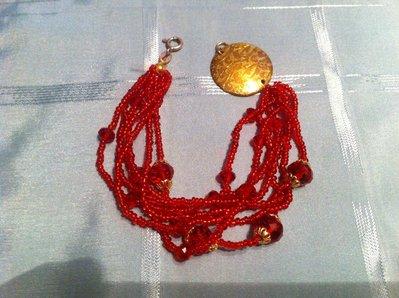 bracciale miyuki rosso perline in vetro rosso