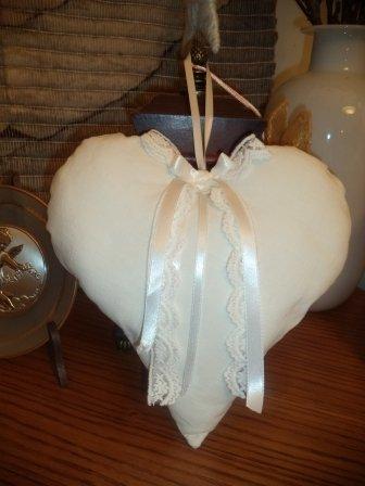 Grande cuore shabby da appendere o da regalare
