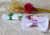 Collarino in nylon per cane o gatto con fiocco e decoro in strass, perline o  borchie per matrimonio e altre occasioni particolari