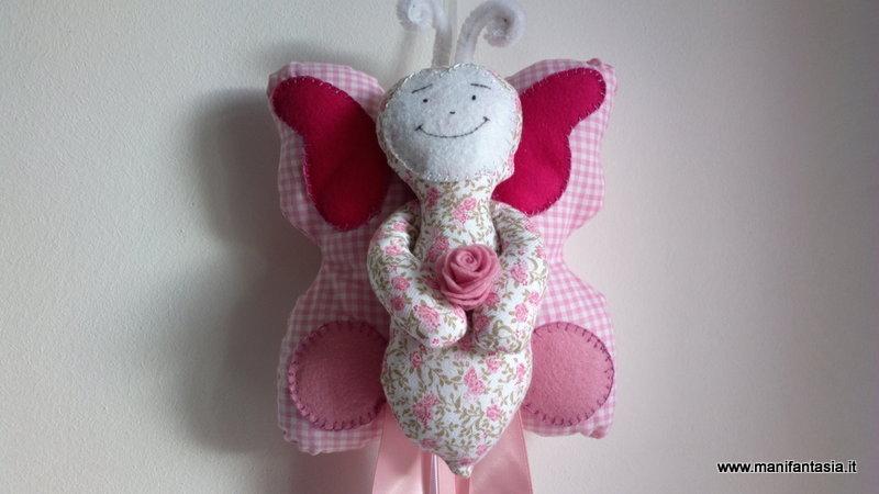 fiocco nascita farfalla cucito creativo per bimba