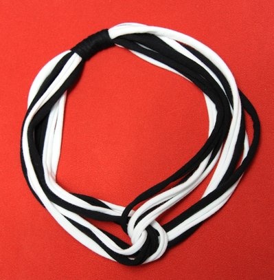 Collana strangolino mod. bianco e nero
