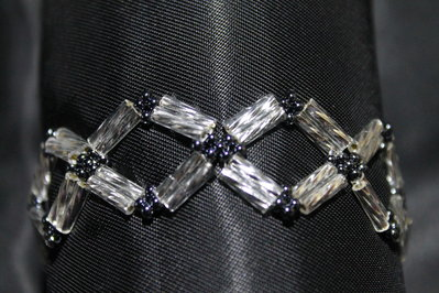 PROMOZIONE Bracciale a Rombi Elegante Donna Fatto a Mano Handmade Bracelet