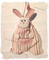 Sacchetto coniglio portapigiama- portapannolini bimbi