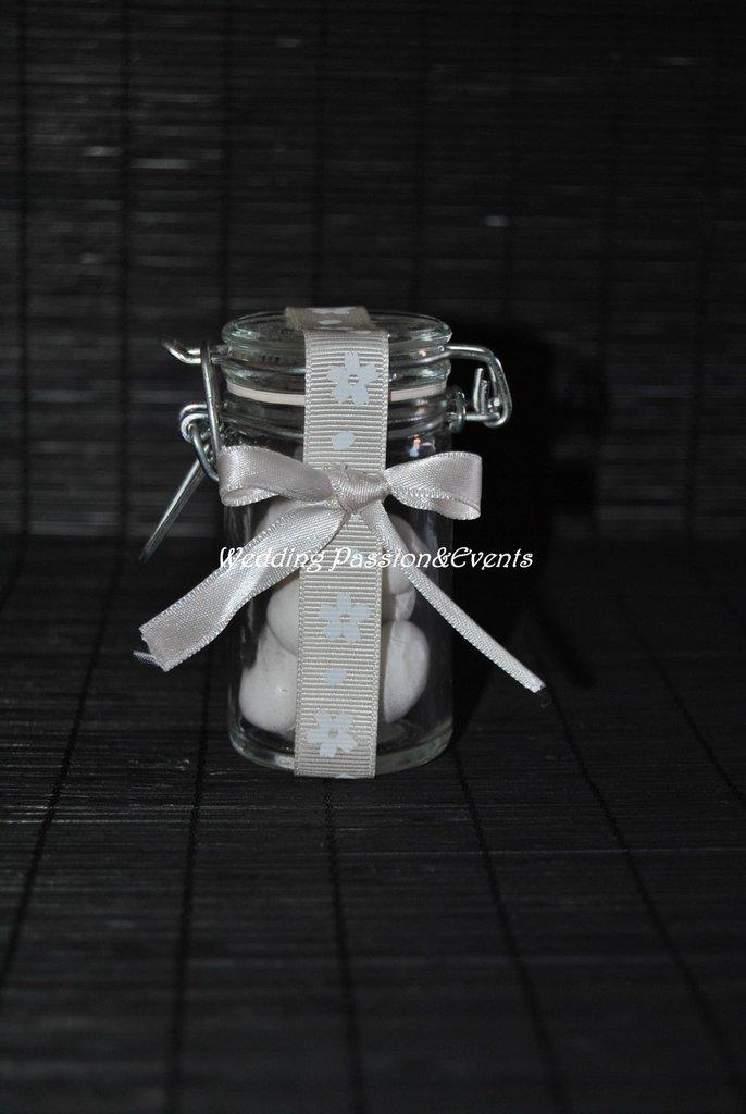 Vasetto di vetro con chiusura ermetica