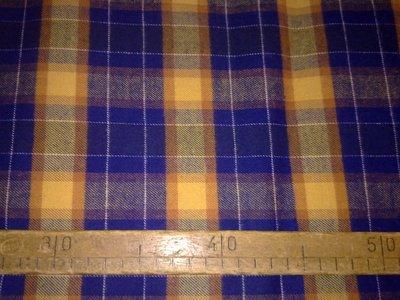 Taglio scampolo stoffa cotone felpato flanella scacchi check scozzese tartan vintage anni 70