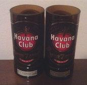 2 bicchieri Rum Havana Club ottenuti da bottiglie