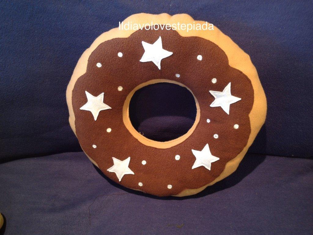 Cuscino forma Biscotto Pan di Stelle