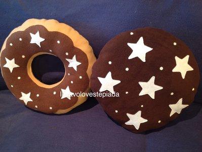 Pan Di Stelle Cuscino.Cuscino Forma Biscotto Pan Di Stelle