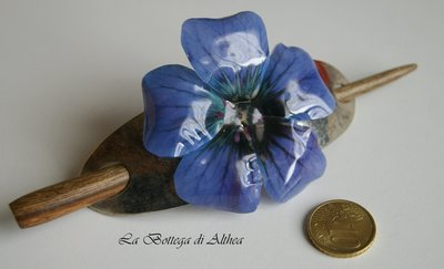 Spillone per capelli con fiore in sospeso trasparente