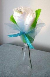 Fiore di pannolini - Idea regalo per la nascita