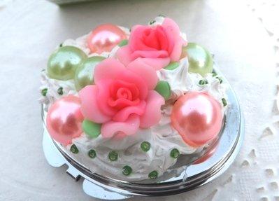 Collezione 2014.specchietti e fiori e rose in fimo idea regalo Natale!!
