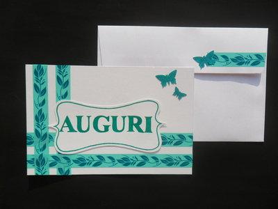 """Biglietto """"auguri"""" verde"""