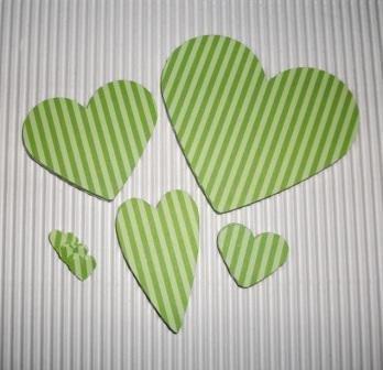 Super Mix Cuori Fustellati - Stripes in Love^^ (lotto 50 pz)