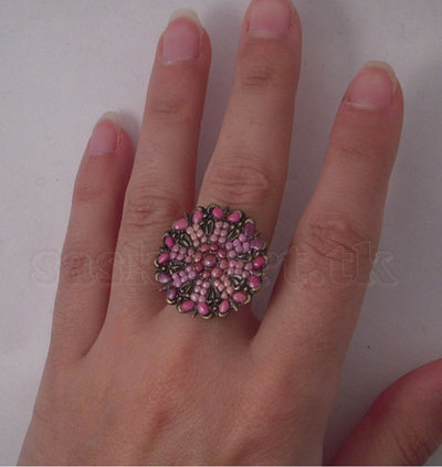 anello rose antique