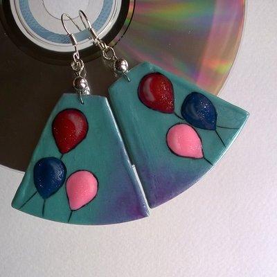 Orecchini CD dipinti a mano #3