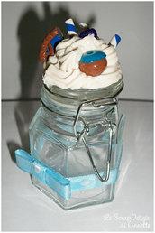 Delizia di Panna azzurra in vetro