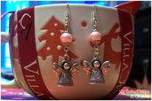 Orecchini Angelici con perle rosa