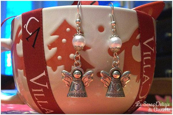 Orecchini Angelici con perle bianche