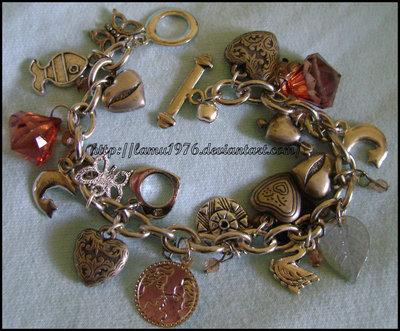 Braccialetto love mix charms tutto in color argento