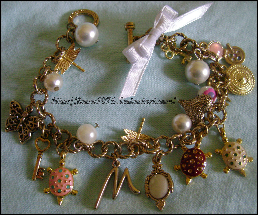 Braccialetto mamma mix charms tutto in color oro