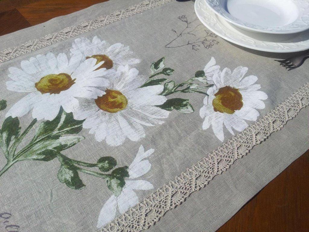 Runner da tavolo 100 % lino