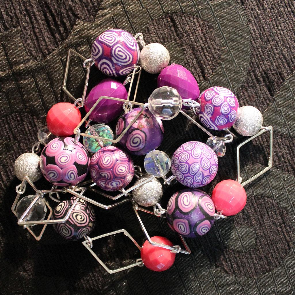 """collana in fimo handmade """"Square"""""""