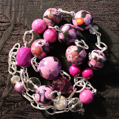 "collana in fimo handmade ""Rose"""