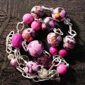 "collana in fimo handmade ""Rose"""