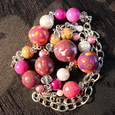 """Collana lunga hand made in fimo """"Spring"""""""