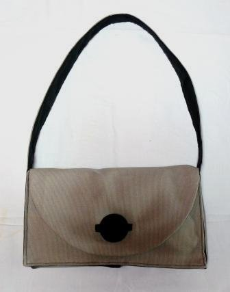 borsetta in cotone grigio