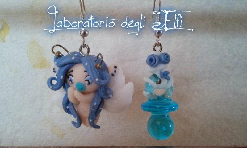 """Orecchini """"Baby Winter Light Blue Fairy"""""""